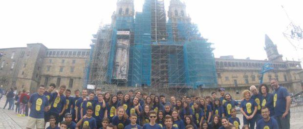 Una setantena de joves de l'arxidiòcesi han pelegrinat fins a Santiago de Compostela